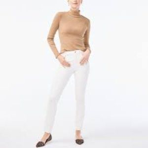 J. Crew White Highest Rise Stretch Skinny Jeans